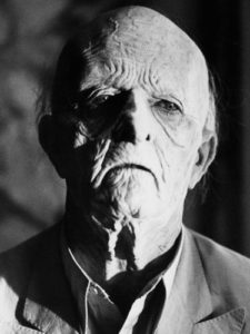David Bowie in very old age makeup, as a vampire in the Hunger.