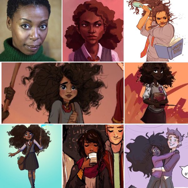 A sampling of pictures, mostly fan art, of black Hermione.